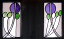 stained glass panels by Charles Rennie Mackintosh