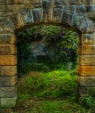 Arch at the Banqueting Hall, Jesmond Dene, Newcastle Upon Tyne
