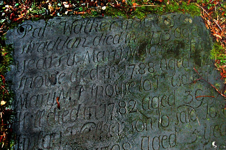Inscription on a gravestone at Luss, Loch Lomond, Argyll and Bute