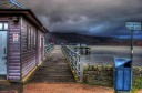Luss, Loch Lomond, Argyll, lake, Scotland, pier, hdr, clouds, gulls