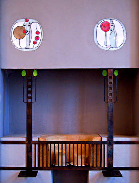 Fireplace by Charles Rennie Mackintosh - House For An Art Lover - Belahouston, Glasgow.