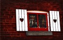 Heart shutters window