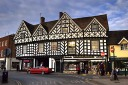 Tudor buildings in the centre of Warwick, England.