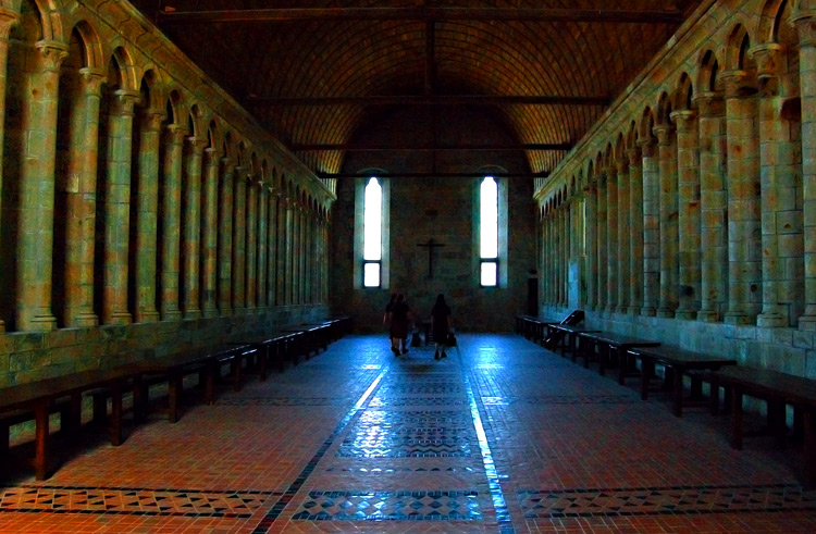 The Refectory - Mont Saint Michel, Normandy