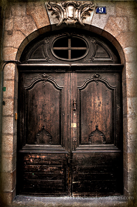 Old doorway - Rennes, Brittany, France