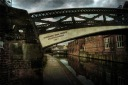 Iron bridge across one on Birmingham's many canals..