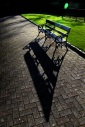 Bench and shadow - St Patrick's Park, Dublin