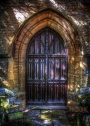 Doorway - Holy Trinity Church, Stratford-Upon-Avon, England