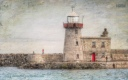 Howth Harbour - County Dublin Ireland Lighthouse painting texture oil digital art declanod