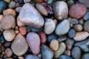 beach stones rocks Donegal Inishowen Ireland colours colourful shapes