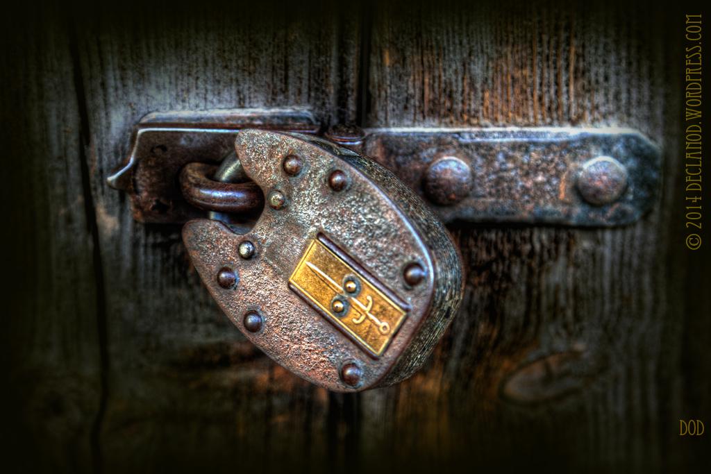lock door padlock secure security old strong strength