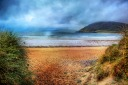 The beach at Tullagh Bay, Inishowen, County Donegal, Ireland. Painterly art