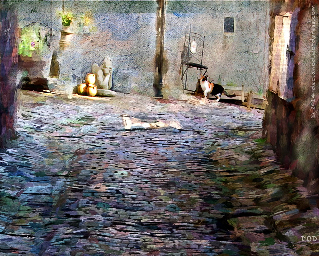 painterly, painting brushes, cobblestones cat textures digital art topaz impression filters