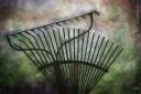 rakes gardening textures painting painterly