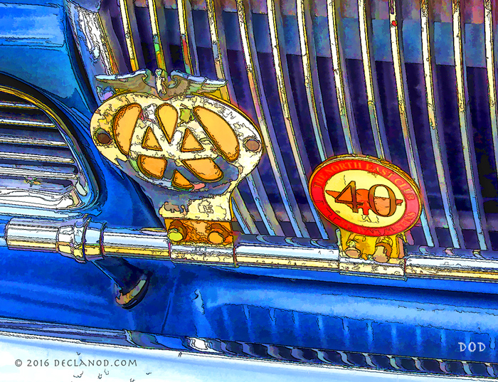 Picture of Sunbeam Rapier grille and badges.